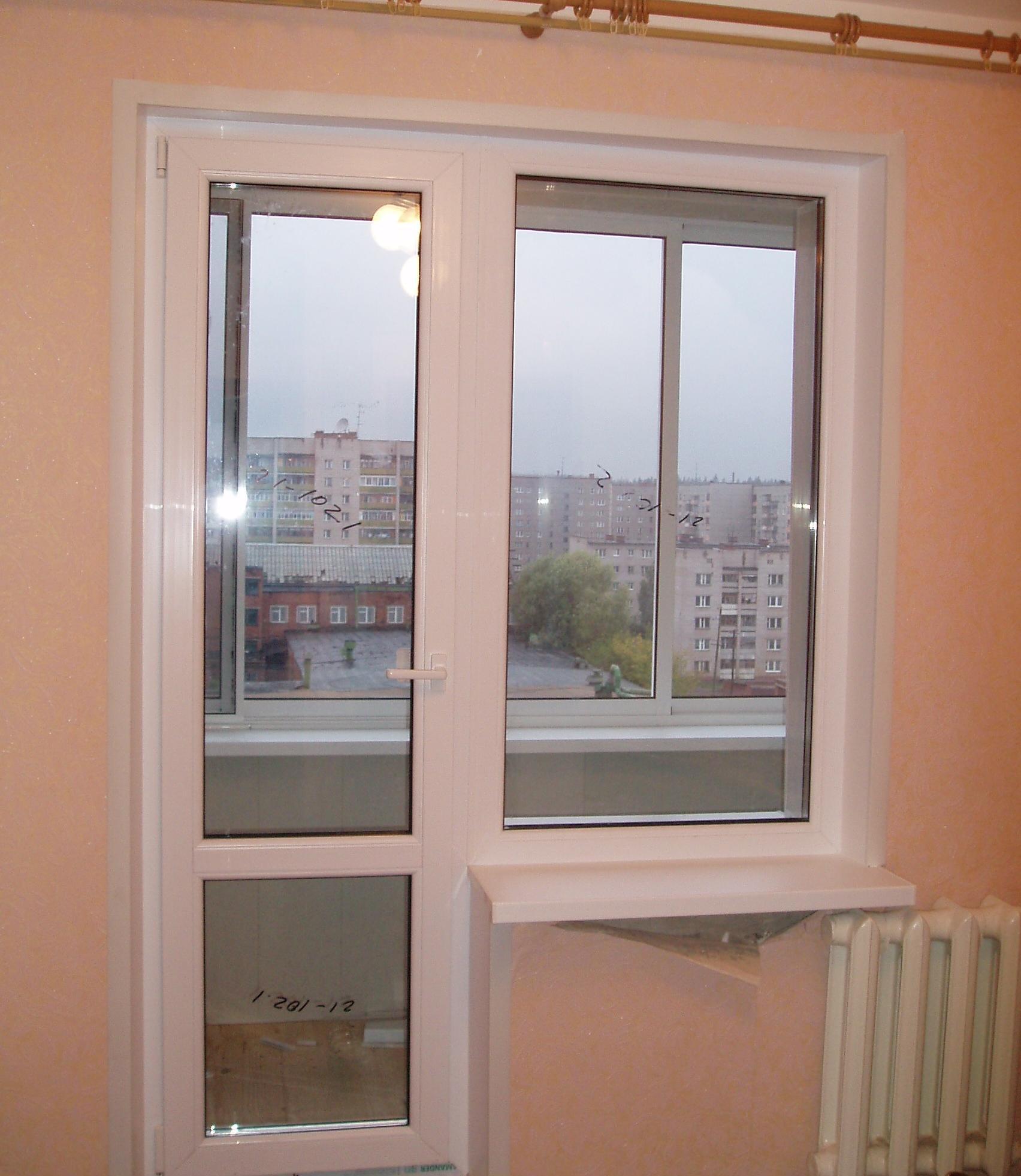 Застеклить балконный блок..